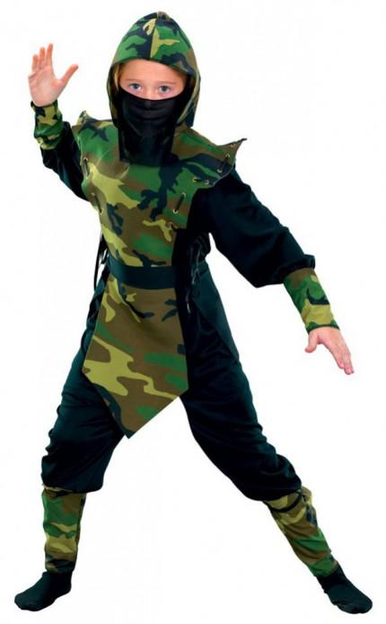 kinder kost m ninja camouflage 9 teilig kost me accessoires. Black Bedroom Furniture Sets. Home Design Ideas