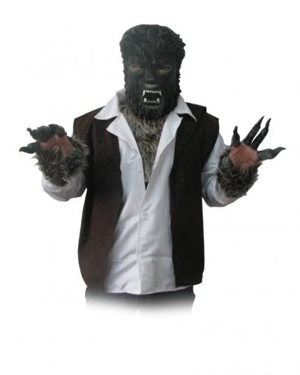 fell kost m werwolf 1 unisex twilight wolf damen herren verkleidung. Black Bedroom Furniture Sets. Home Design Ideas