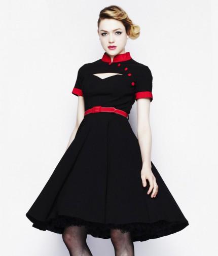 50er jahre rockabilly kleid inkl petticoat wendy retro. Black Bedroom Furniture Sets. Home Design Ideas