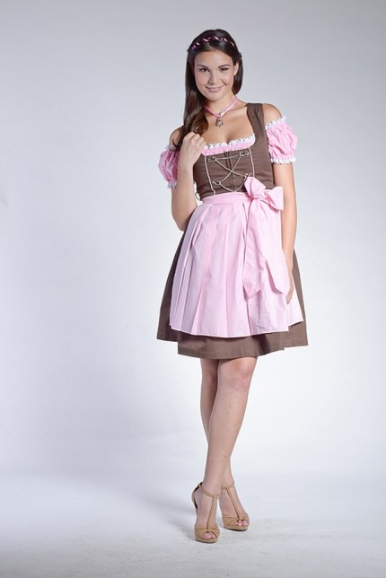 mini oder midi dirndl rosa wei karierte bluse sch rze. Black Bedroom Furniture Sets. Home Design Ideas