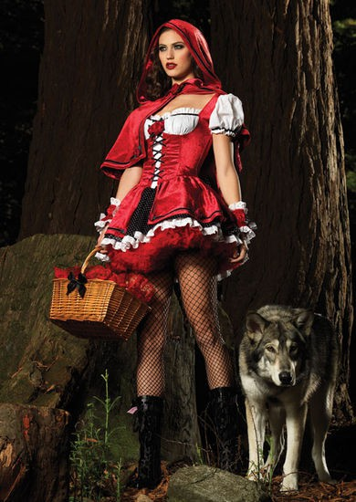 Damen-Kostuem-SEXY-ROTKAPPCHEN-NEU-Karneval-Fasching-Gr-M-Maerchen-Halloween
