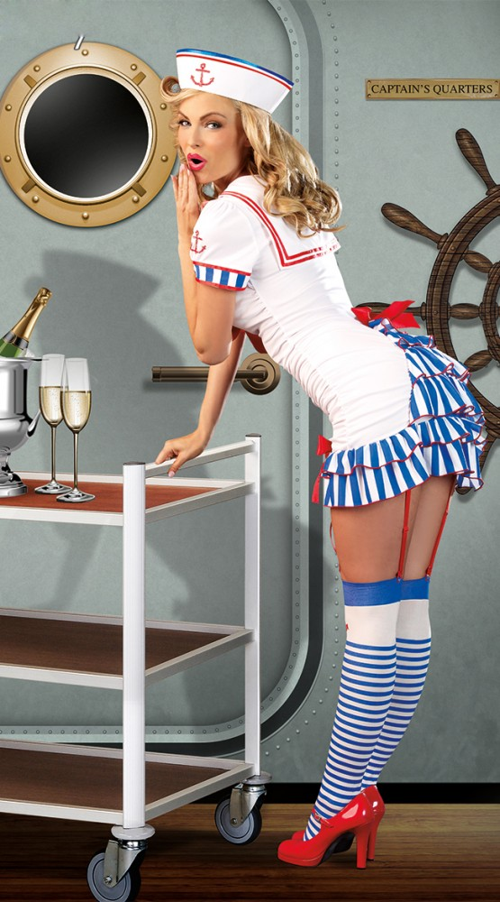 matrosen kost m sexy sailor pinup gr s m sailor damen matrosin ebay. Black Bedroom Furniture Sets. Home Design Ideas