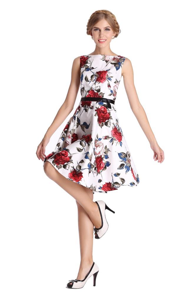 50er jahre rockabilly kleid inkl petticoat rose rot fashion for Vintage kleider kinder
