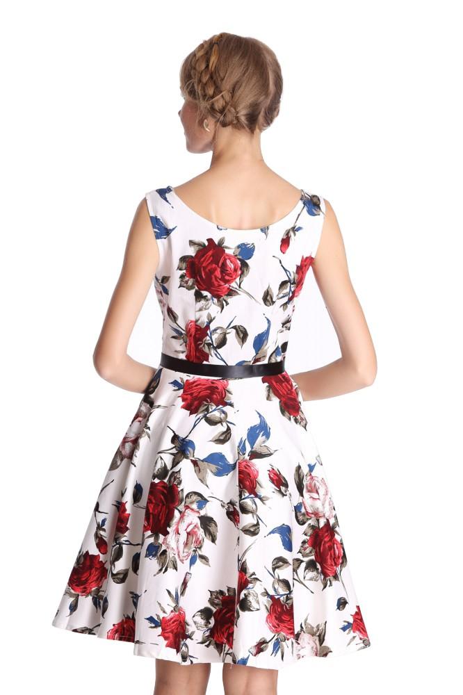 50er jahre rockabilly kleid inkl petticoat rose rot fashion. Black Bedroom Furniture Sets. Home Design Ideas