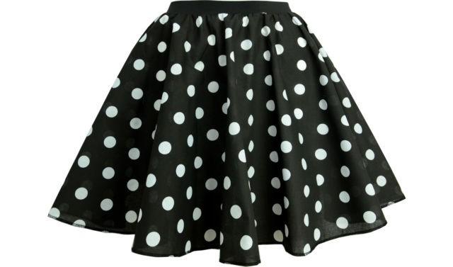 50er jahre rock mit polka dots farbauswahl kost me accessoires. Black Bedroom Furniture Sets. Home Design Ideas
